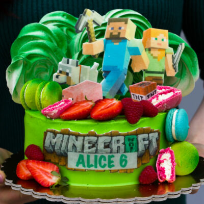 Dětský dort na objednávku Minecraft 2
