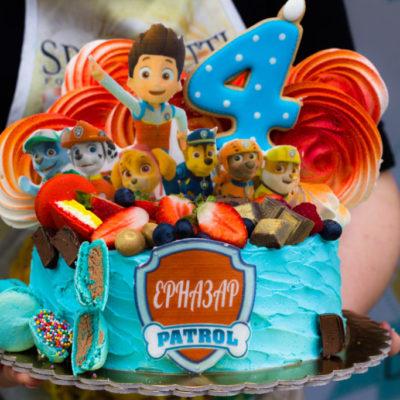Dětský narozeninový dort Paw Patrol 2