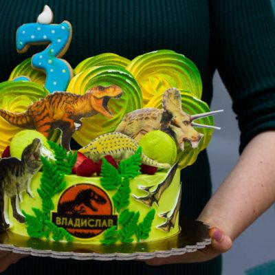 Dětský narozeninový dort Dinosaurus 2 (2 kg, 1450 kč)