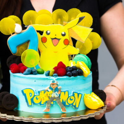 Dětský dort na objednávku Pokemon 4 (2,5 kg, 1700 kč)