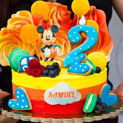 Dětský narozeninový dort Mickey Mouse 4 (2 kg, 1450 kč)