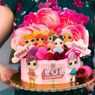 Dětský dort na objednávku LOL 8 (2 kg, 1450 kč)