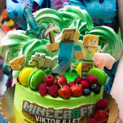 Dětský dort na objednávku Minecraft 3