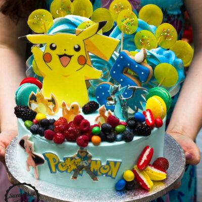 Dětský narozeninový dort Pokemon 3 (3 kg, 1950 kč)