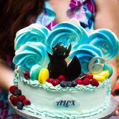 Dětský dort na objednávku Bezzubka 2 (3 kg, 1950 kč)