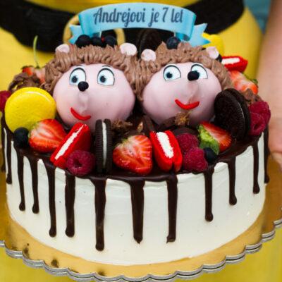 Dětský dort na objednávku Ježek