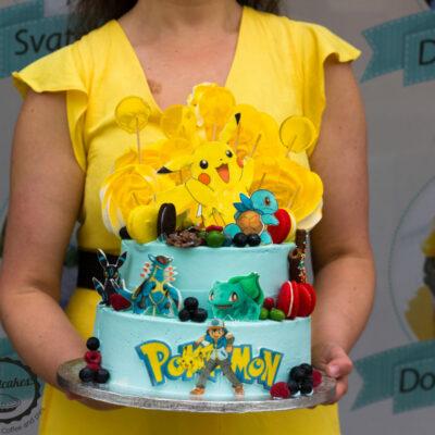 Dětský dort na objednávku Pokemon 2 (4 kg, 2500 kč)