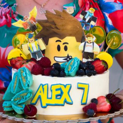Narozeninový dort Roblox Alex