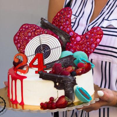 Narozeninový dort pro muže Terč