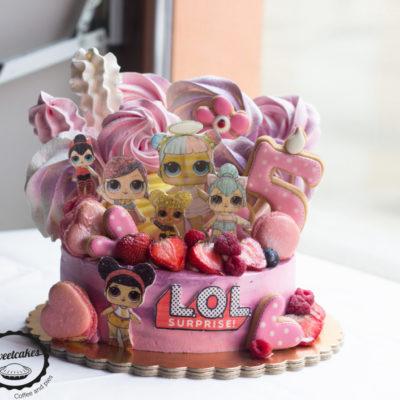 Dětský dort na narozeniny LOL 9 (2 kg, 1450 kč)