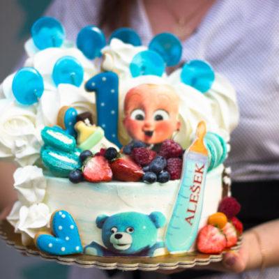 Dětský narozeninový dort Baby Boss