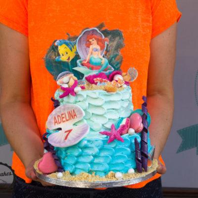 Dětský dort na narozeniny Ariel 5