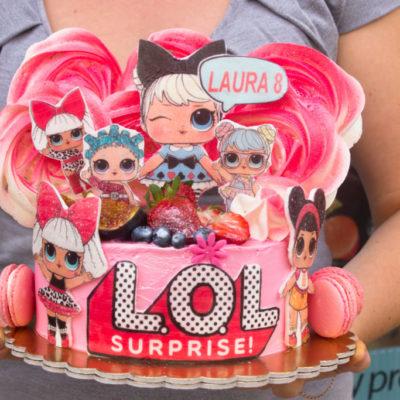 Dětský narozeninový dort LOL 17 (2 kg, 1450 kč)