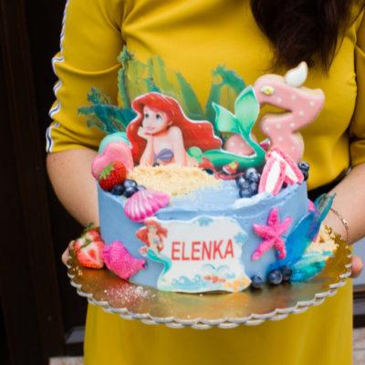 Dětský dort na narozeniny Ariel 4