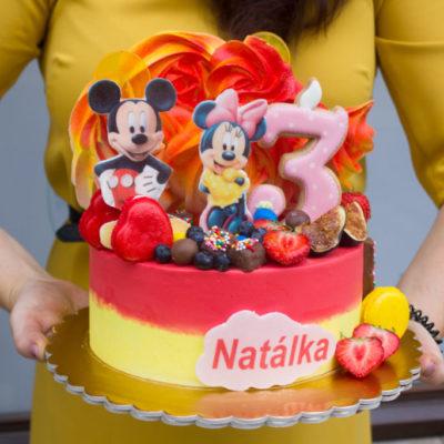 Dětský narozeninový dort  Mickey Mouse 5 (2 kg, 1450 kč)