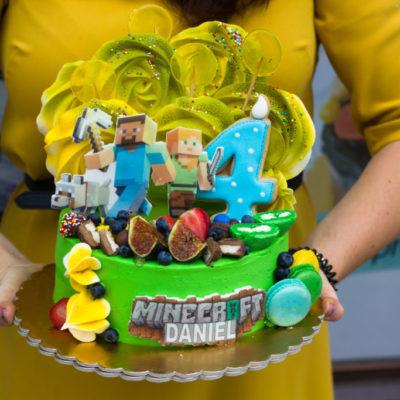 Dětský narozeninový dort Minecraft 4