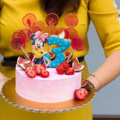 Dětský narozeninový dort Minnie 2 (2 kg, 1450 kč)