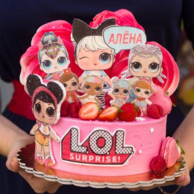 Dětský narozeninový dort LOL 15 (2 kg, 1450 kč)