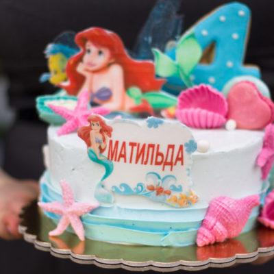 Dětský dort na narozeniny Ariel 3