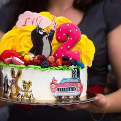 Dětský narozeninový dort Krteček 3