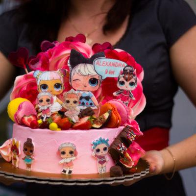Dětský dort na narozeniny LOL 14 (2 kg, 1450 kč)