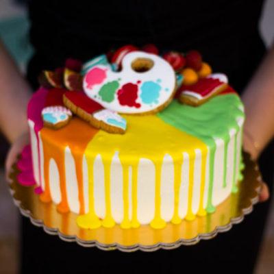 Narozeninový dort Malířka