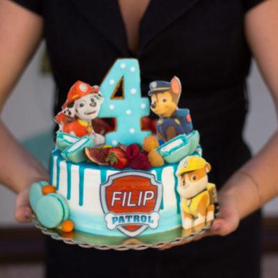 Dětský dort na narozeniny Tlapková patrola (1,5 kg 1200 kč)