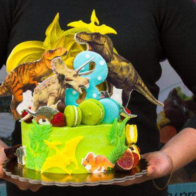 Dětský narozeninový dort Dinosaurus 5 (2 kg, 1450 kč)