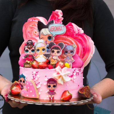 Dětský dort na narozeniny LOL 12 (2 kg, 1450 kč)