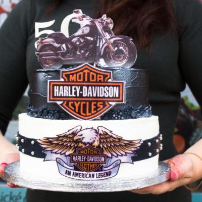 Narozeninový dort pro muže Harley Davidson 50