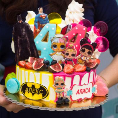 Dětský narozeninový dort Dvojčata 2