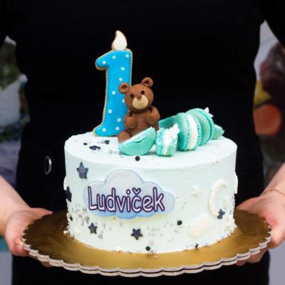 Dětský narozeninový dort Medvídek