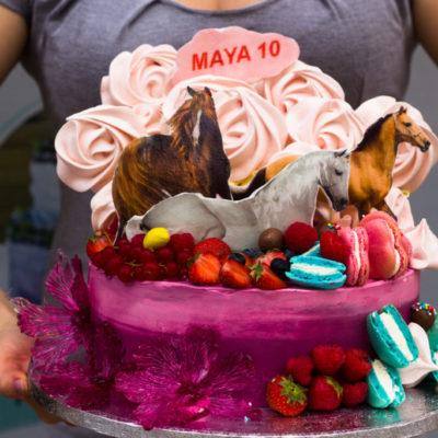 Dětský narozeninový dort Koni 2