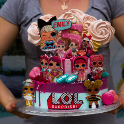 Dětský narozeninový dort  LOL 11 (4 kg, 2400 kč)