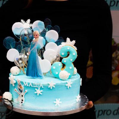Dětský narozeninový dort  Frozen 5