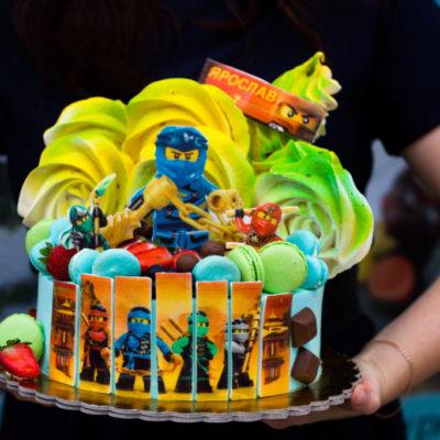Dětský narozeninový dort  Ninjago 2