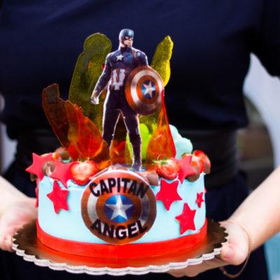 Narozeninový dort  Kapitán Amerika