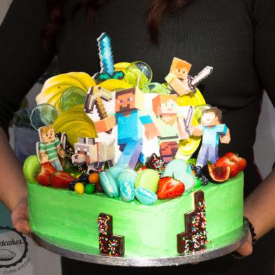 Dětský narozeninový dort Minecraft 9
