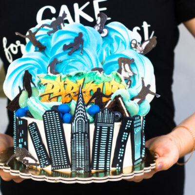 Dětský narozeninový dort Parkour 2