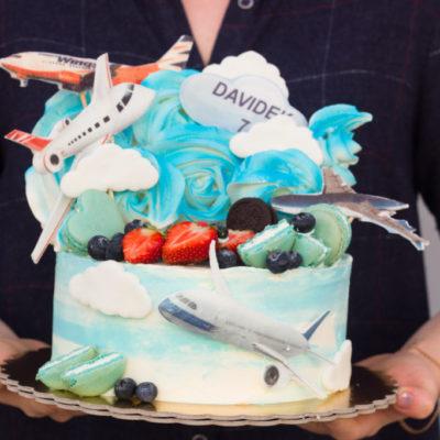 Dětský dort na objednávku Letadlo 3