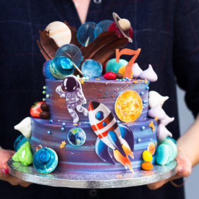 Dětský narozeninový dort  Kosmos 2