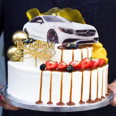 Narozeninový dort Mercedes-Benz