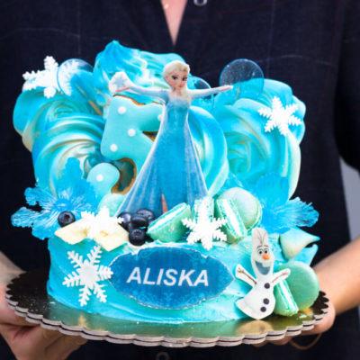 Dětský narozeninový dort Frozen 10