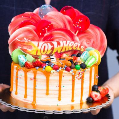 Dětský narozeninový dort pro kluka Hot wheels 3