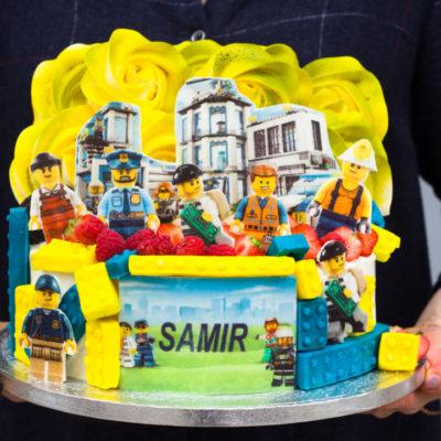 Dětský narozeninový dort pro kluka Lego City 3
