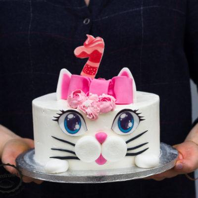 Dětský narozeninový dort Kočička
