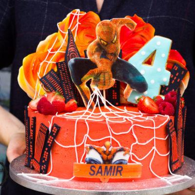 Dětský narozeninový dort  Spiderman 4