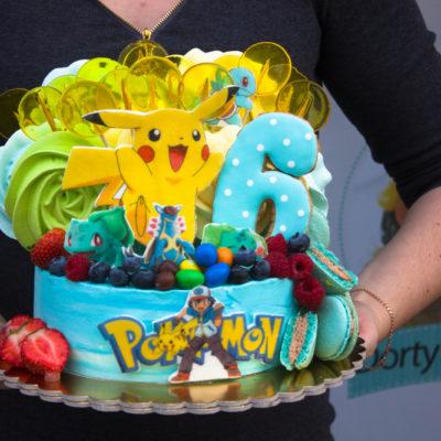 Dětský narozeninový dort Pokemon 9 (2,5 kg, 1700 kč)