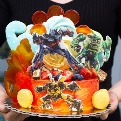 Dětský narozeninový dort  Transformers