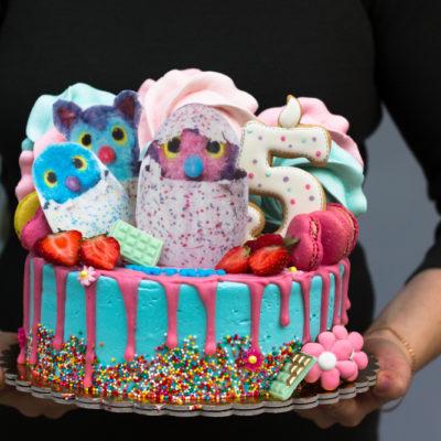 Dětský narozeninový dort Hatchimals